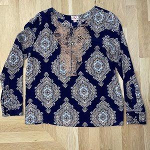 AKA New York 100% Silk Shirt, Size M